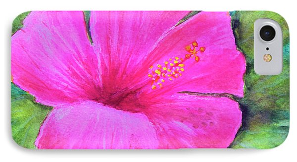 Pinkhawaii Hibiscus #505 Phone Case by Donald k Hall