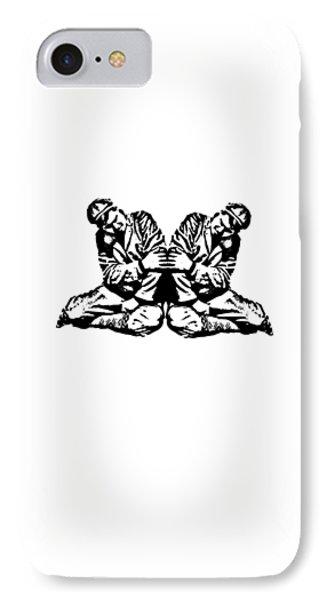 Pinky Swear T-shirt IPhone Case by Edward Fielding
