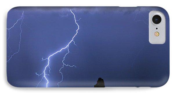 Pinnacle Peak Lightning  Phone Case by James BO  Insogna