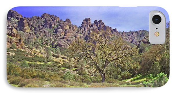 IPhone Case featuring the photograph Pinnacles National Park Watercolor by Art Block Collections
