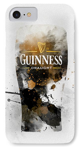 Pint Of Guinness IPhone Case by Rebecca Jenkins
