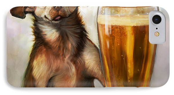 Beer iPhone 7 Case - Pint Sized Hero by Sean ODaniels