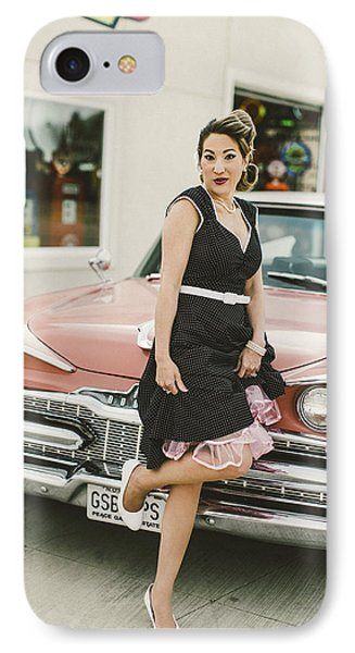 Pinup Sce IPhone Case by T S Sell
