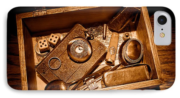 Pioneer Keepsake Box - Sepia IPhone Case by Olivier Le Queinec