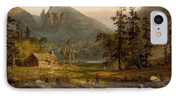 Pioneer's Home Eagle Cliff  White Mountains IPhone Case by Jasper Francis Cropsey