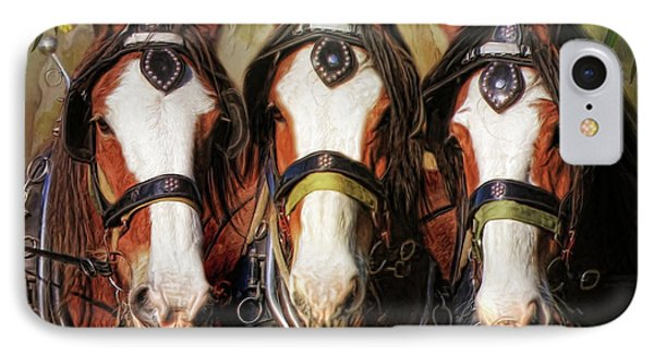 IPhone Case featuring the digital art  Pioneers by Trudi Simmonds