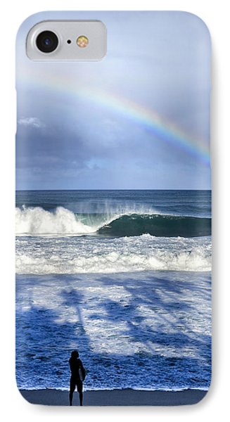 Pipe Rainbow Palms IPhone Case by Sean Davey