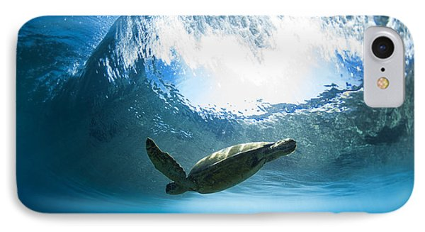 Turtle iPhone 7 Case - Pipe Turtle Glide by Sean Davey