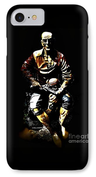 Pirate And Skull IPhone Case by Annie Zeno