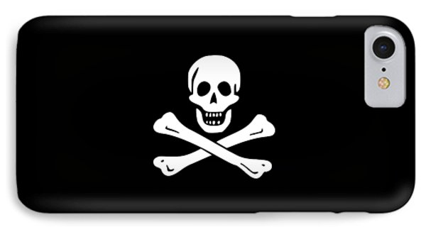 Pirate Flag Tee IPhone Case by Edward Fielding