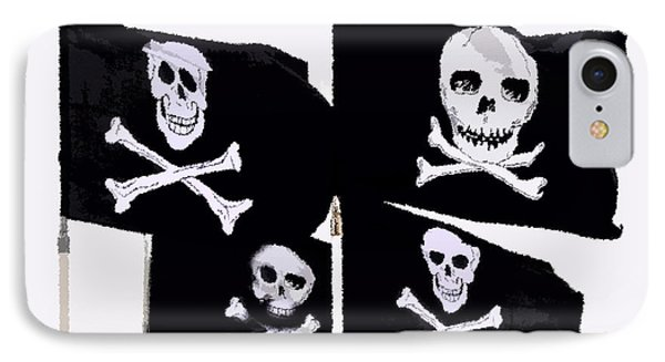 Pirate Flags Phone Case by David Lee Thompson