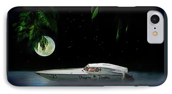 IPhone Case featuring the painting Pirate Racing by Michael Cleere