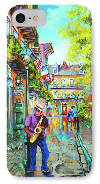 IPhone Case featuring the painting Pirate Sax  by Dianne Parks