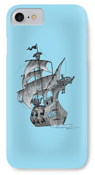 Pirate Ship IPhone Case by Andy Catling