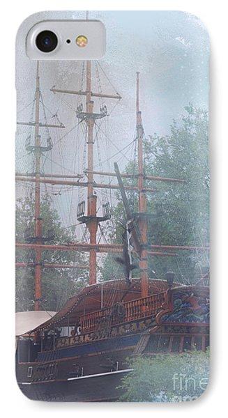 Pirate Ship Hiding In Cove IPhone Case
