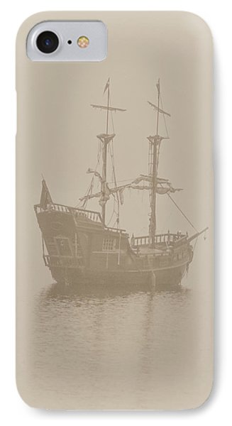 Pirate Ship In Sepia IPhone Case by Joy McAdams