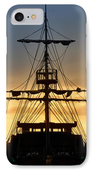 Pirate Ship IPhone Case by Stelios Kleanthous