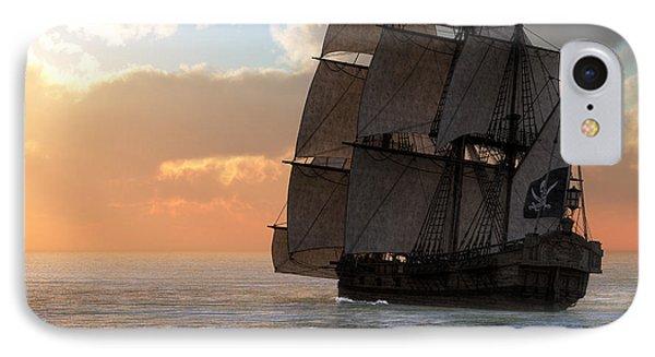 Pirate Ship Sunset IPhone Case by Daniel Eskridge
