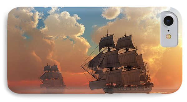 Pirate Sunset IPhone Case by Daniel Eskridge