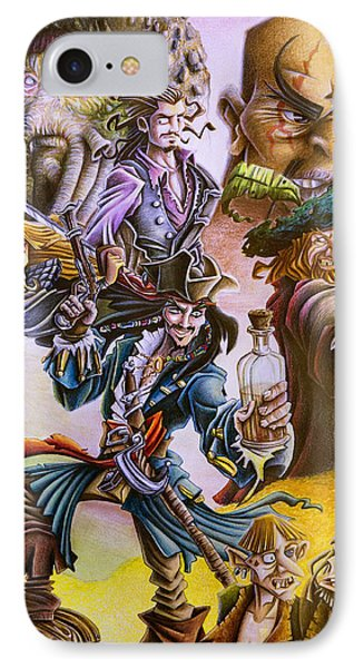 Orlando Bloom iPhone 7 Case - Pirates Of The Caribbean by Michael Christmas