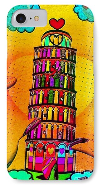 IPhone Case featuring the digital art Pisa Popart By Nico Bielow by Nico Bielow