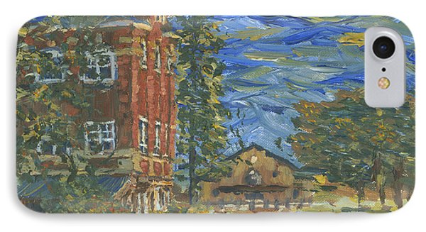 Piskor Hall On An August Evening IPhone Case by Denny Morreale