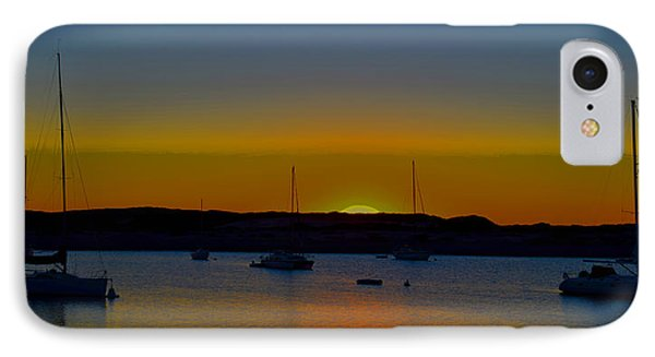 Morro Bay California Sunset Abstract IPhone Case by Barbara Snyder