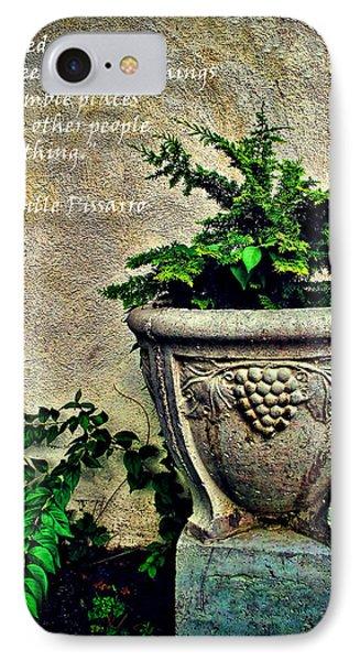 Pissarro Inspirational Quote IPhone Case by Joan  Minchak