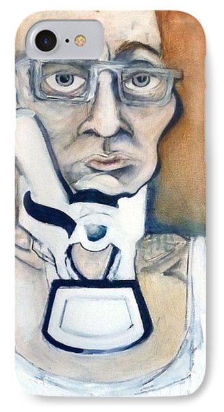 IPhone Case featuring the painting Pissed Crisis by Carolyn Weltman
