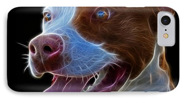 Pit Bull Fractal Pop Art - 7773 - F - Bb IPhone Case by James Ahn