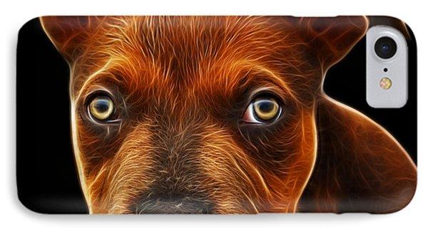 Pitbull Puppy Pop Art - 7085 Bb Phone Case by James Ahn