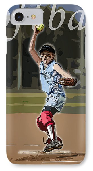Pitcher Phone Case by Kelley King