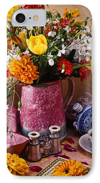 Pitcher Of Flowers Still Life Phone Case by Garry Gay
