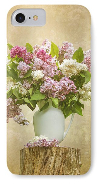 Pitcher Of Lilacs IPhone Case