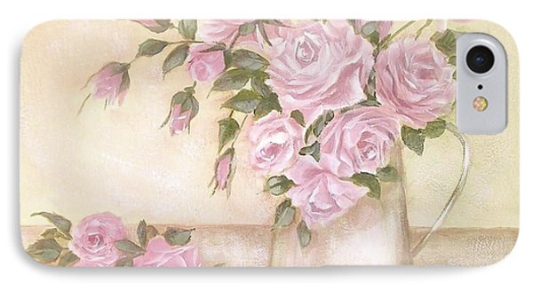 Pitcher Of  Pink Roses  IPhone Case by Chris Hobel