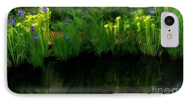 Pitcher Plant Garden IPhone Case by Mike Nellums