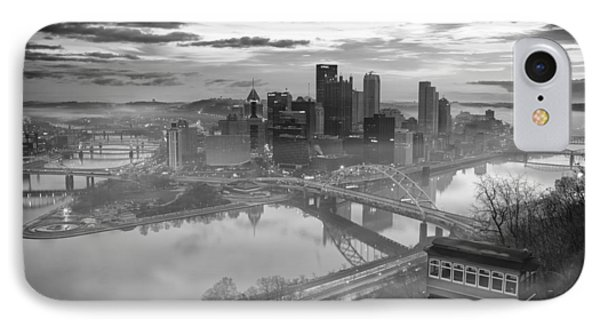 Pittsburgh Architecture 10 Bw IPhone Case by Emmanuel Panagiotakis