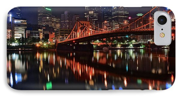Pittsburgh Lights IPhone Case by Frozen in Time Fine Art Photography