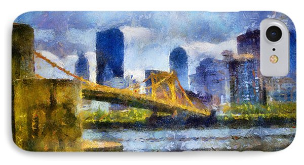 Pittsburgh North Shore Skyline Phone Case by Amy Cicconi