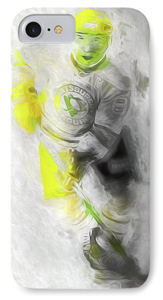 IPhone Case featuring the photograph Pittsburgh Penguins Nhl Sidney Crosby Painting Fantasy by David Haskett