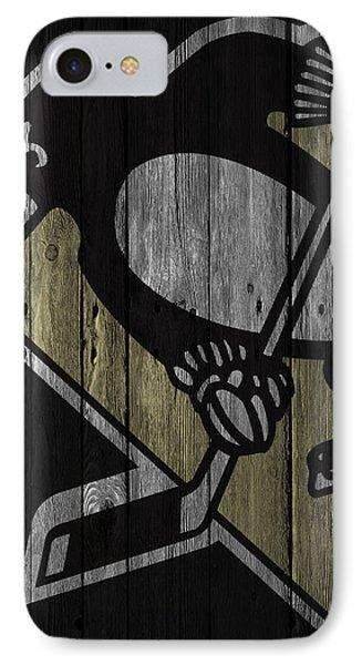 Pittsburgh Penguins Wood Fence IPhone Case by Joe Hamilton