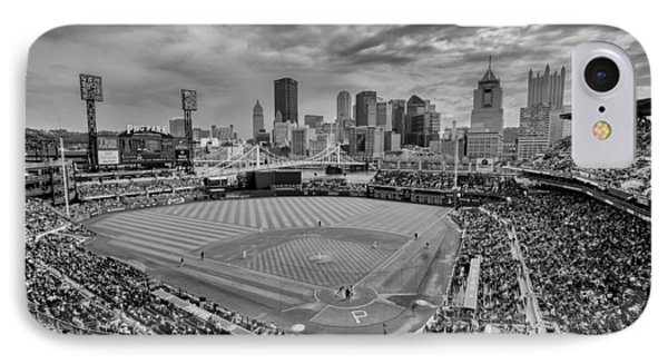 Pittsburgh Pirates Pnc Park Bw X IPhone Case by David Haskett