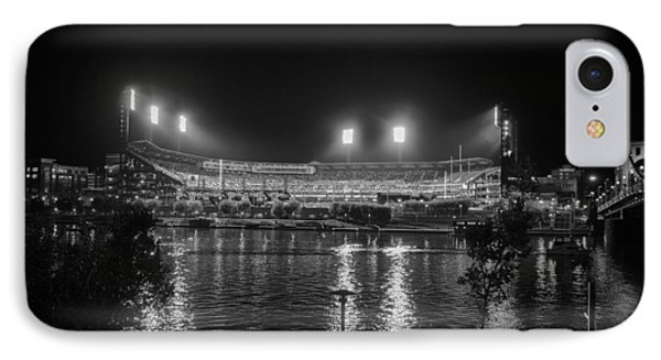 Pittsburgh Pirates Pnc Park Night Bw IPhone Case by David Haskett