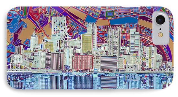Pittsburgh Skyline Abstract 6 IPhone Case