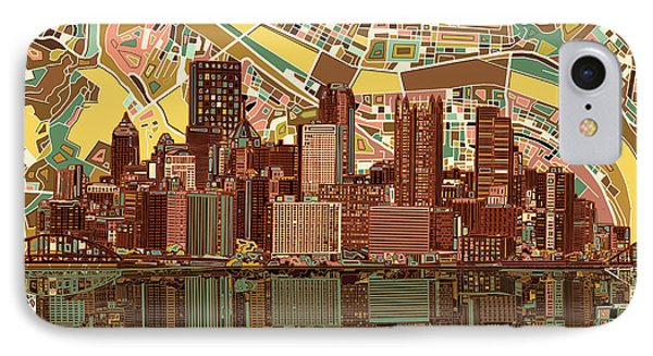 Pittsburgh Skyline Abstract  IPhone Case