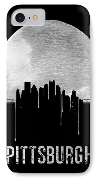 Pittsburgh Skyline Black IPhone Case