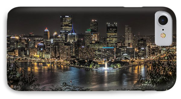 Pittsburgh Skyline IPhone Case by Brent Durken
