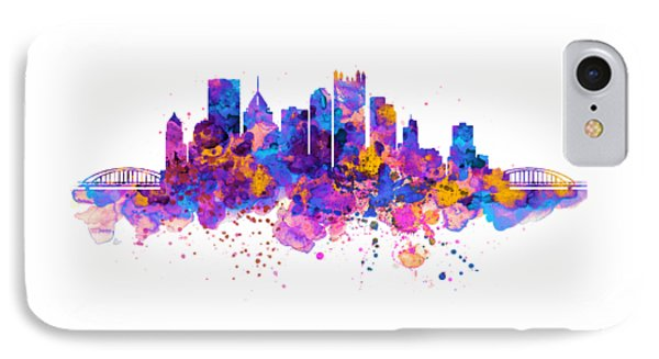 Pittsburgh Skyline IPhone Case by Marian Voicu