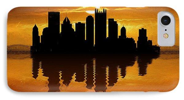 Pittsburgh Skyline Sunset Reflection IPhone Case