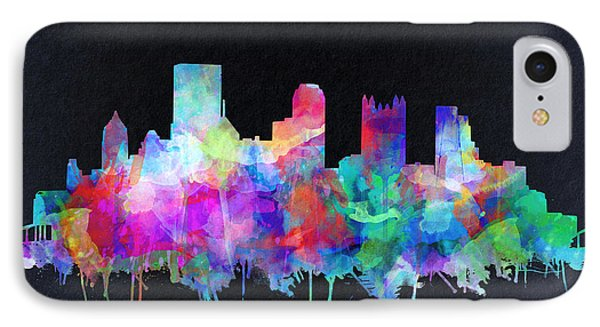 Pittsburgh Skyline Watercolor 6 IPhone Case